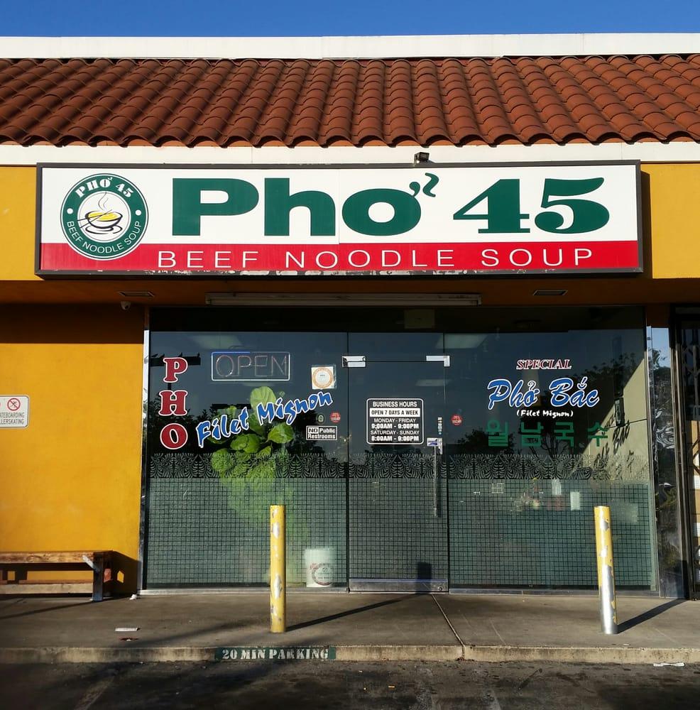 pho 45 outside